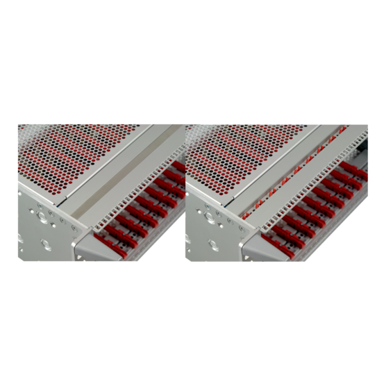 Cover strips (to cover the horizontal rail perforations)