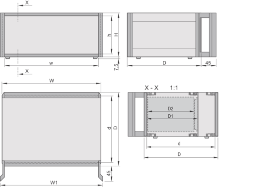 RatiopacPRO, Case, Unshielded, with Handles