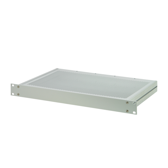 """MultipacPRO, 19"""" complete chassis from aluminium with perforated top cover and base plate"""