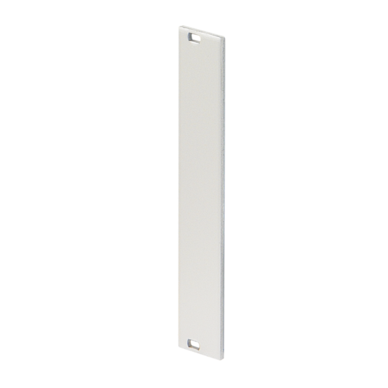 Front panel, front anodized, rear passivated, unshielded, screw assembly