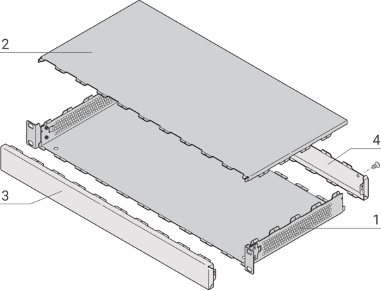 """Interscale, 19"""" Case, Perforated, Rack Mount"""