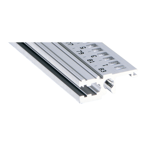 """Horizontal rail, front, type L-OD, """"light"""", without lip (EuropacPRO)"""