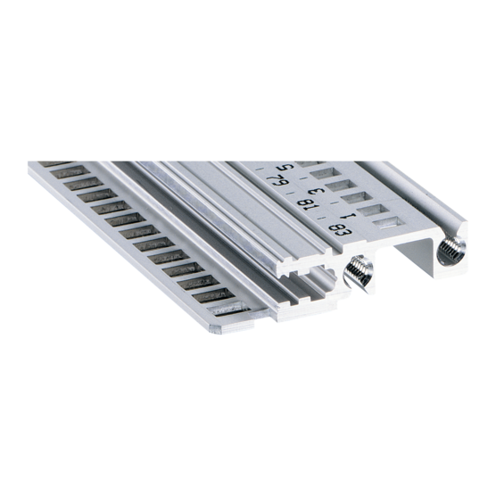 """Horizontal rail, front, type H-LD, """"heavy"""", for CompactPCI and VME64x (EuropacPRO/-rugged)"""