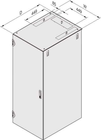 Flat top cover with cut-outs (Varistar)