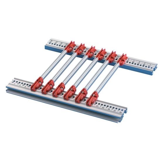 Guide rails, for plug-in units and frame type plug-in units