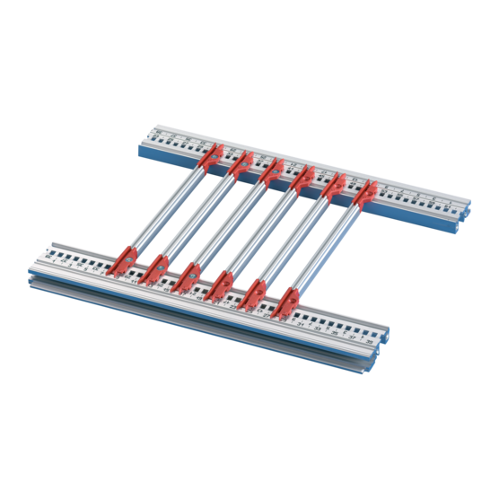 Guide rails, multi-piece, for 4.4-inch PCBs (EuropacPRO)