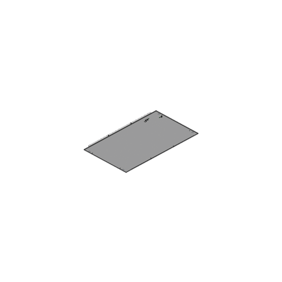Base plate, one-piece, closed (Varistar)