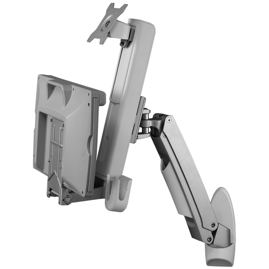 Adjustable Monitor Arm with Keyboard Tray