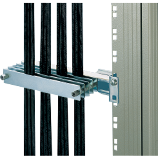 Sandwich cable clamping for C profiles