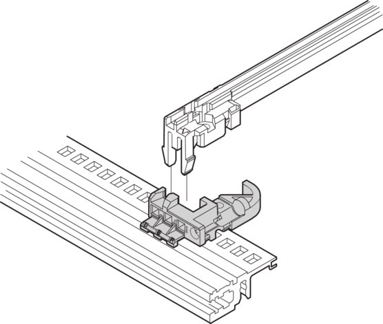 Coding block, for accessory type guide rails