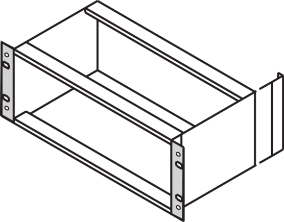 """19"""" Bracket, for type """"F"""" side panels, EMC shieldable, textile (EuropacPRO)"""