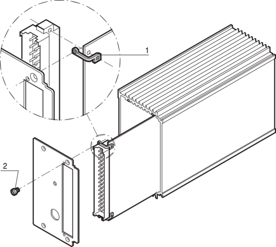 PCB mounting bracket, for HF frame type plug-in unit